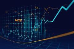 Mercado de valores de ação ou gráfico de troca dos estrangeiros no conceito gráfico ilustração do vetor