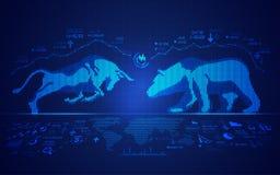Mercado de valores de acção ilustração stock