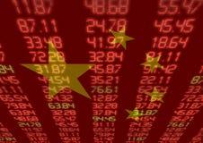 Mercado de valores de ação chinês Fotografia de Stock Royalty Free