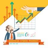 Mercado de valores de ação do sucesso Fotos de Stock