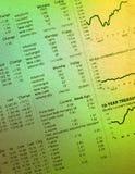 Mercado de valores de acção fotografia de stock