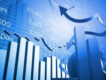 Mercado de valores de acção acima e para baixo setas Ilustração do Vetor