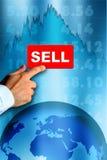 Mercado de valores de acção do urso Imagem de Stock