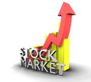 Mercado de valores de acção gráfico das estatísticas Imagem de Stock Royalty Free