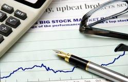 Mercado de valores de acção grande Imagem de Stock Royalty Free