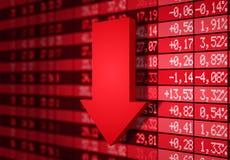 Mercado de valores de acção para baixo Fotografia de Stock Royalty Free