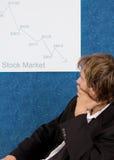 Mercado de valores de acção causando um crash Fotos de Stock