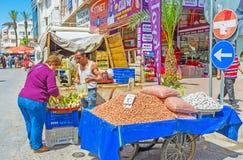 Mercado de viernes en Antalya Foto de archivo libre de regalías