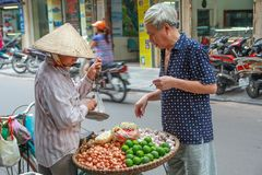 Mercado de Vietname da rua Imagens de Stock