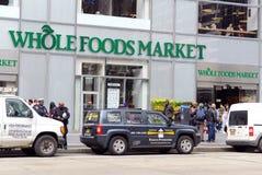 Mercado de Whole Foods en Manhattan Foto de archivo libre de regalías