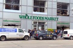 Mercado de Whole Foods en Manhattan Fotografía de archivo libre de regalías
