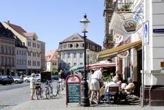 Mercado de Zittau em Alemanha Imagens de Stock Royalty Free