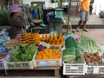 Mercado del aire abierto, Luang Prabang, Laos Imágenes de archivo libres de regalías