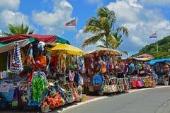 Mercado del aire abierto, Marigot, St Matin Foto de archivo