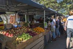 Mercado del alimento biológico Imagen de archivo