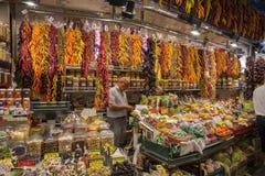 Mercado del alimento de Barcelona - de San José - España. Fotos de archivo libres de regalías