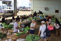 Mercado del alimento de la isla del Pacífico Imagen de archivo libre de regalías