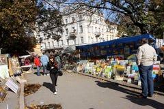 Mercado del arte al aire libre Fotos de archivo
