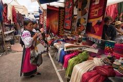 Mercado del artesano en Otavalo Ecuador Fotografía de archivo libre de regalías