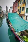 Mercado del barco de Venecia Foto de archivo libre de regalías