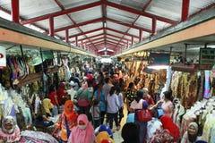 Mercado del batik de Beringharjo Fotografía de archivo