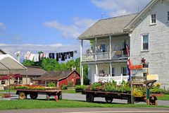 Mercado del borde de la carretera de Amish Imágenes de archivo libres de regalías