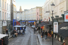 Mercado del camino de Portobello Foto de archivo libre de regalías