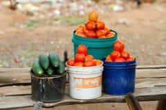 Mercado del camino en Tanzania Foto de archivo