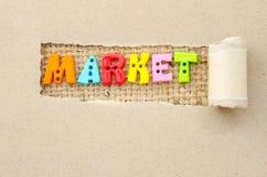 Mercado del color del alfabeto imagen de archivo libre de regalías