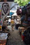 Mercado del cuadrado de Greenmarket en Cape Town Fotografía de archivo