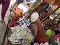 Mercado del delta del Mekong foto de archivo