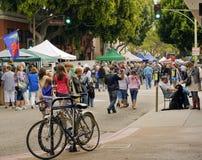 Mercado del granjero de San Luis Obispo, California Foto de archivo