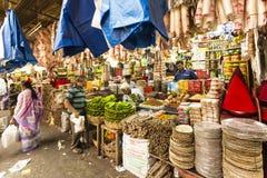 Mercado del KR, Bangalore, la India fotos de archivo libres de regalías