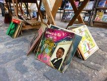 Mercado del libro de la segunda mano en La Habana Imagen de archivo libre de regalías