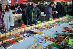 Mercado del libro en Londres foto de archivo