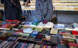 Mercado del libro en Londres fotografía de archivo libre de regalías