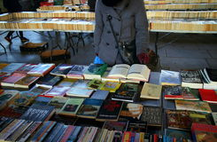 Mercado del libro en Londres fotos de archivo