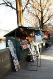 Mercado del libro en París Foto de archivo libre de regalías