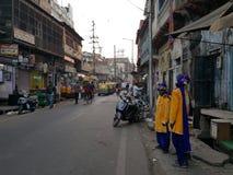mercado del local de Agra Foto de archivo