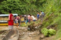 Mercado del local de Puni Bocana Fotografía de archivo