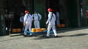 Mercado del queso en Alkmaar metrajes
