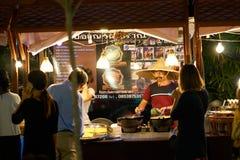 Mercado do alimento da noite Fotografia de Stock Royalty Free