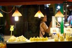 Mercado do alimento da noite Imagem de Stock