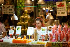 Mercado do alimento da noite Imagem de Stock Royalty Free