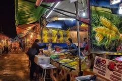 Mercado do alimento da noite em Pattaya Fotos de Stock Royalty Free