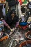 Mercado do alimento, Dali Old Town, província de Yunnan, China fotografia de stock royalty free