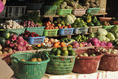 Mercado do alimento de Camboja Imagens de Stock Royalty Free