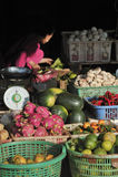 Mercado do alimento de Camboja Fotos de Stock Royalty Free