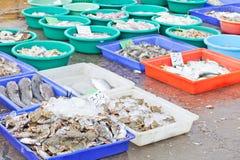 Mercado do alimento de mar Imagem de Stock