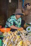 Mercado do alimento de Siem Reap, Camboja 5 de setembro de 2015 Imagem de Stock Royalty Free